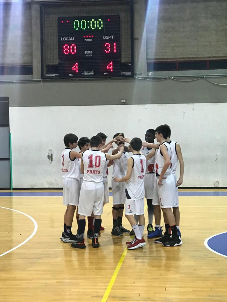 Gli Under 14 Elite vincenti nel derby