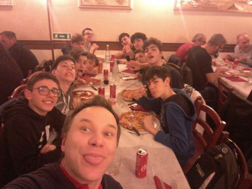Gli Under 15 sconfitti a Carrara